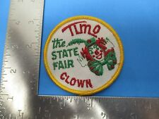 Tim O The State Fair Clown Patch Embroidered White Green Red Gold  S3210