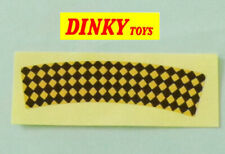 Dinky 734 Thunderbolt self adhesive glossy paper checkered livery