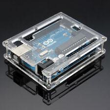 TRANSPARENT ACRYLIC CASE COVER ENCLOSURE COMPUTER BOX FOR ARDUINO UNO R3 POUR