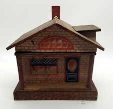 LMAS ~ Antique Wood w Lithograph Dollhouse Room w Hinged Front Opening Converse