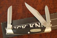 BUCK USA 303 BLACK SAWCUT DELRIN MEDIUM STOCKMAN KNIFE NICE (CR111)