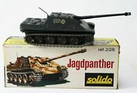 Military Army Tank Solido Diecast Jagdpanther German 9/1971 Made France ref 228