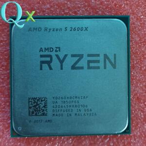 AMD Ryzen 5 2600X CPU Processor R5 2600X 3.6 GHz 6C 12-Thread 16M Socket AM4
