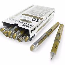 Pentel Hybrid Gel Grip métallisé stylo - 1.0 mm stylo à bille – doré métallisé – Boîte de 12