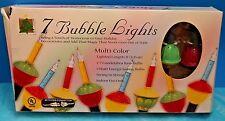 Christmas Bubble Lites/-7 lights per box New Nip