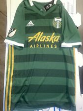 NWT adidas Portland Timbers  MLS Home Jersey Mens Medium Green Gold