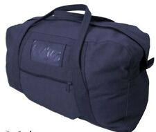 "Canvas Army Echelon Bag 26"" Navy Cotton Heavy Duty 60L Cadet Scouts Carry All"