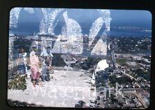 1957  kodachrome Photo slide  Double exposure El Popo Monastery   CC11