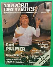 Modern Drummer December 1983 Carl Palmer Simon Kirk Issue 50 NO LABEL Excellent!