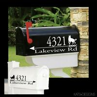 German Shepherd Mailbox Decal - Set/2 - Alternate breeds on Request!