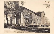 C69/ Medina Ohio Postcard Real Photo RPPC c40s Church of Christ Building