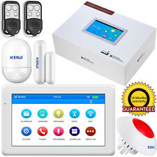 "2017 K7 7"" ScreenTouch Pad WiFi GSM Home Alarm System Security,APP Control,Siren"