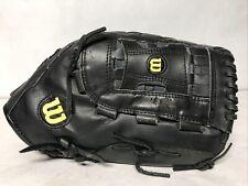 "Wilson 14"" A2444 Black Elite Softball Glove RHT Over Sized Pocket RH Throwing"