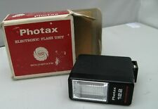 PHOTAX 122 SOLIDSTATE ELECTRONIC CAMERA FLASH FILM  OLYMPUS OM