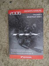 2006 Honda TRX300EX Sportrax 300EX ATV Motorcycle Owner Manual  MORE IN STORE  S