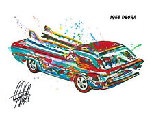Hot Wheels 1968 Deora Redline Car Racing Print Poster Wall Art 8.5x11