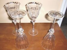 """ROGASKA LUXE""Madison Avenue Set of 4 Goblet Vine Crystal Thumbprint Glasses"