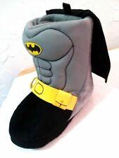"BATMAN - Toddler Size ""5/6"" Premium Boys Bootie Slippers Gray/Black/Yello"