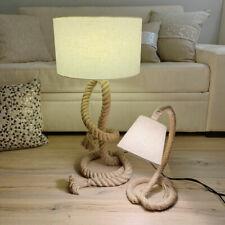 Stehlampe Tischlampe Nachttisch Maritim Sylt Seil Lampe Taulampe Hanfseil Unikat