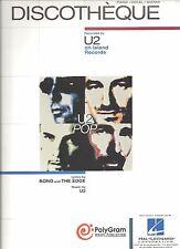 """U2-DISCOTHEQUE"" PIANO/VOCAL/GUITAR SHEET MUSIC-NEW RARE ON SALE-BONO/THE EDGE!!"