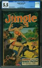JUNGLE COMICS 92 CGC 5.5 Sexy Good Girl Art Fiction House 1947