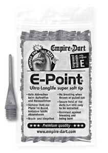 """Empire Dart Softdartspitzen - E-Point - 1/4"""" - lang - grau - 500 Stück"""