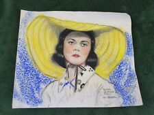 "Original Cartoonist Hy Neigher colored crayon ""Betty Davis?"" drawing"