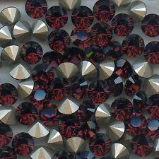 1028 SS39 BU *** 8 STRASS SWAROVSKI FOND CONIQUE SS39(8,3mm) BURGUNDY F