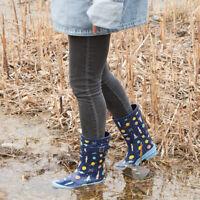 Kids Children Girl Boy Waterproof Rubber Rain Boots Cute Printed Non-Slip Boots