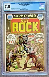 Our Army at War #265 CGC graded 7.0 FN/VF Feb 1974 20 cent Bronze Age DC Comics