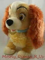 New Disney Store Lady & The Tramp Plush Toy Dog Exclusive Stuffed Animal