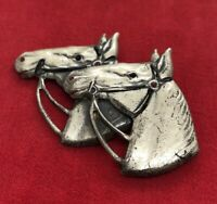 Vintage Sterling Silver Brooch Pin 925 Horse Uncas Signed Mid Century Animal
