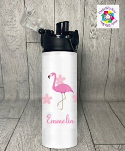 PERSONALISED Tractor/Minnie/Penguin/Flamingo Water Bottle 750ml/Gym/School/gift