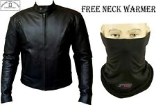 TERMINATOR STYLE FINE QUALITY MENS CE ARMOUR MOTORBIKE/MOTORCYCLE LEATHER JACKET