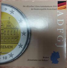 Germania 2 EURO MONETA COMMEMORATIVA 2010 A D F G J memorizzare freschi-Brema Roland statua
