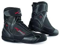 Chaussures Impermeables Cuir Tissu Moto Motard Sport Touring Antipluie Unisexe