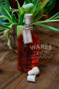 Glass Bottle With Tapered Cork, 500ml, Pack 6, Infused Gin, Spirits, New *