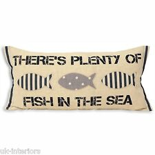Il y a Plenty of Poisson En The Sea Coussin 30 x 60cm 30.5cmx61cm coton