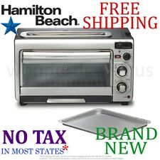 New HAMILTON BEACH 2-in-1 Combined OVEN and TOASTER 4 Slice Timer Auto Shutoff