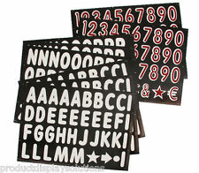 """314-4"""" Replacement Letters & Numbers KIT for BLACK Message Board Sidewalk Sign"""
