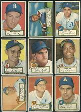 (45445) 1952 Topps Baseball Lot 60 diff AVG VG 22 DiMaggio, 26 Irvin, 36 Hodges