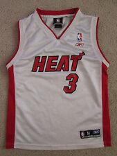 Youth Reebok NBA Miami Heat Dwayne Wade #3 Basketball Jersey - Size M (10/12)