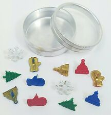 Scrapbooking Brads Holiday Winter Snowflakes Christmas Trees Bonus Tin Stamping