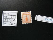 (E6478) DR Nr.163y** seltene Gummiriffelung Kat.350.-€
