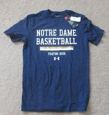 Notre Dame Fighting Irish Mens Under Armour T-Shirt Sz Small Basketball