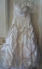 CHRISTINA WU Wedding Gown 5401 White w/Beading Princess Poofy Strapless Size 12