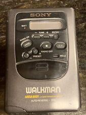 Black Sony Walkman Wm-Fx52 Am/Fm Radio Portable Cassette Player.