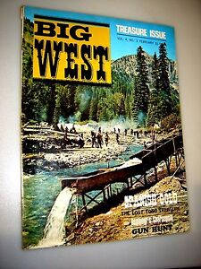BIG WEST MAGAZINE- FEBRUARY ,1969-VOL.4 # 3 - TREASURE  ISSUE