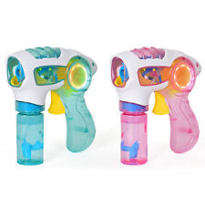 Bubble Gun Fun Light Up Flashing LED Bubble Machine Kids Outdoor Garden Toys New