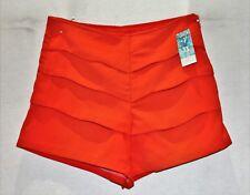 Unbranded Orange Layer High Waist Dress Shorts Size XS BNWT #TO19